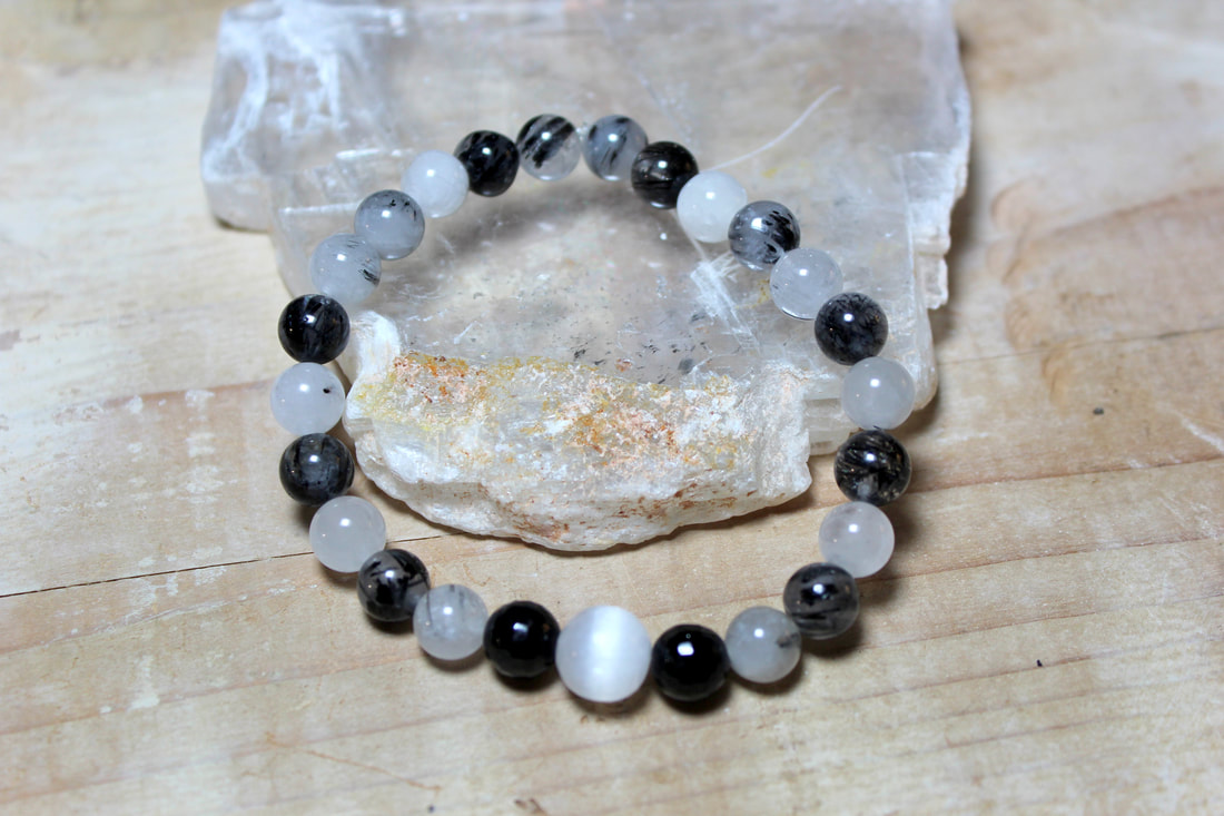 POWERFUL RARE INFINITE NATURAL ENERGY WORK CRYSTAL BRACELET